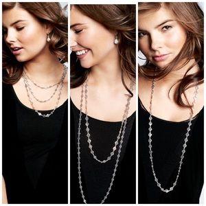 Stella and Dot Devon Silver Layering Necklace